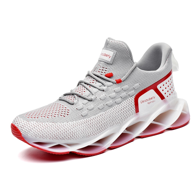 SENTA New Running Shoes Blade Cushioning Sneakers for Men Breathable Sports Shoes Outdoor Athletic Training Walking Sneakers